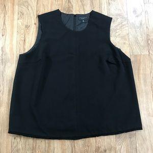 Victoria Beckham Black Fringe Top Size 2X NWT
